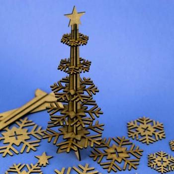 Felicitación de Navidad en DM cortado a láser 08