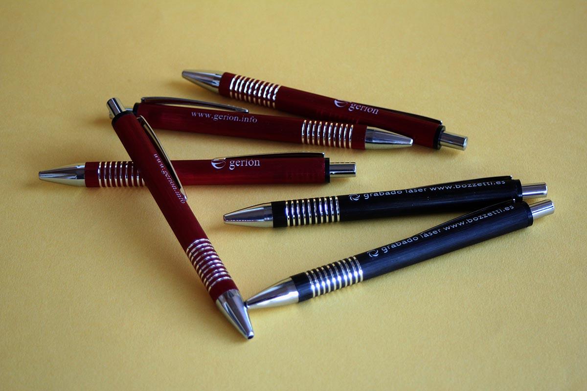 Grabado laser bolígrafos