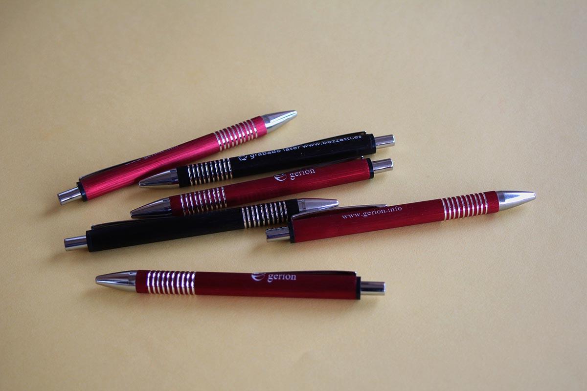Bolígrafos grabados a láser