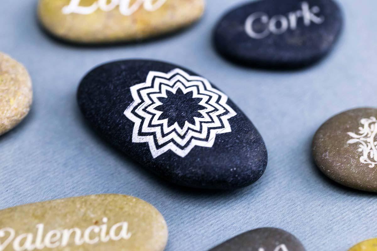 Piedras personalizadas a láser 3