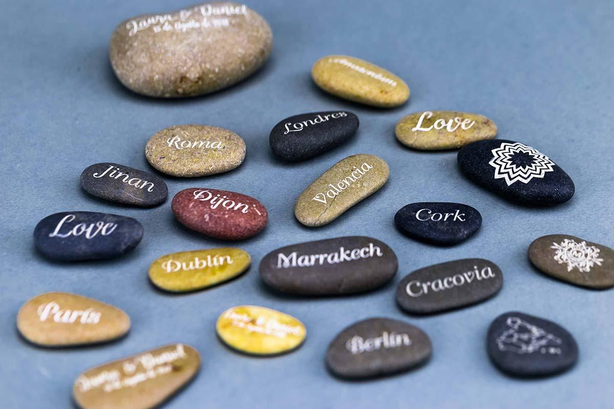 Piedras personalizadas a láser 6